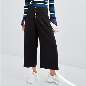 ZARA TRF Collection Wide Cropped Pants